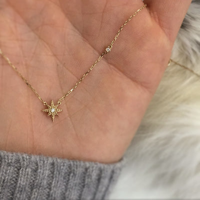 14kt Gold Diamond Stardust Pendant