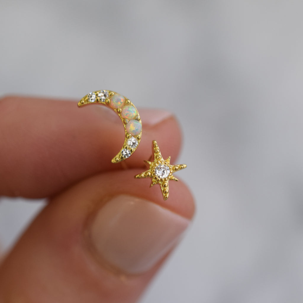 Opal & Diamond Celestial Dream Studs