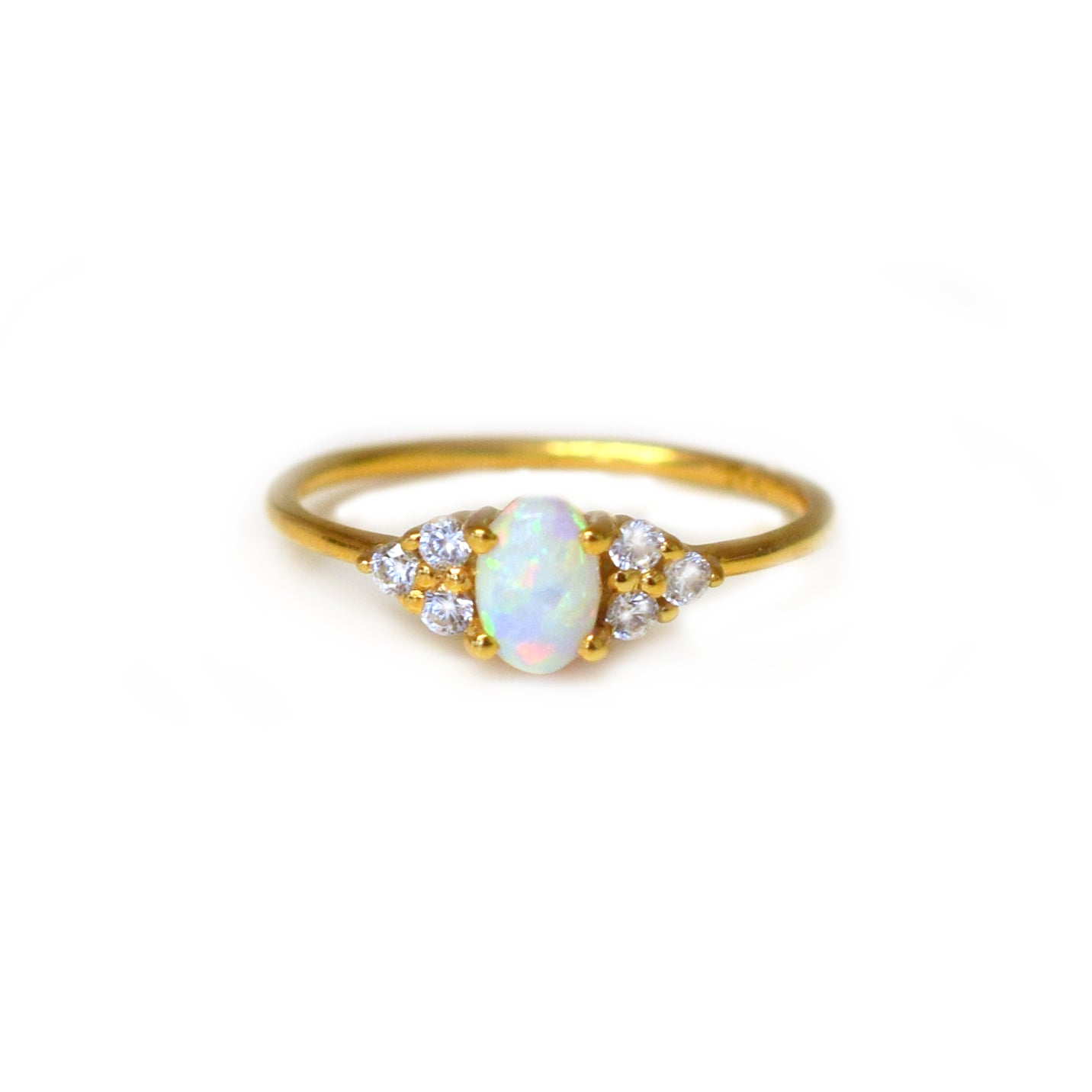Mini Opal & Diamond Abella Ring
