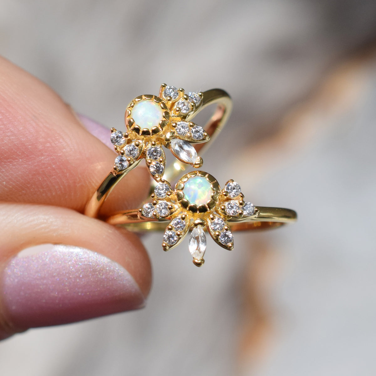 Opal & Diamond Pocahontas Ring