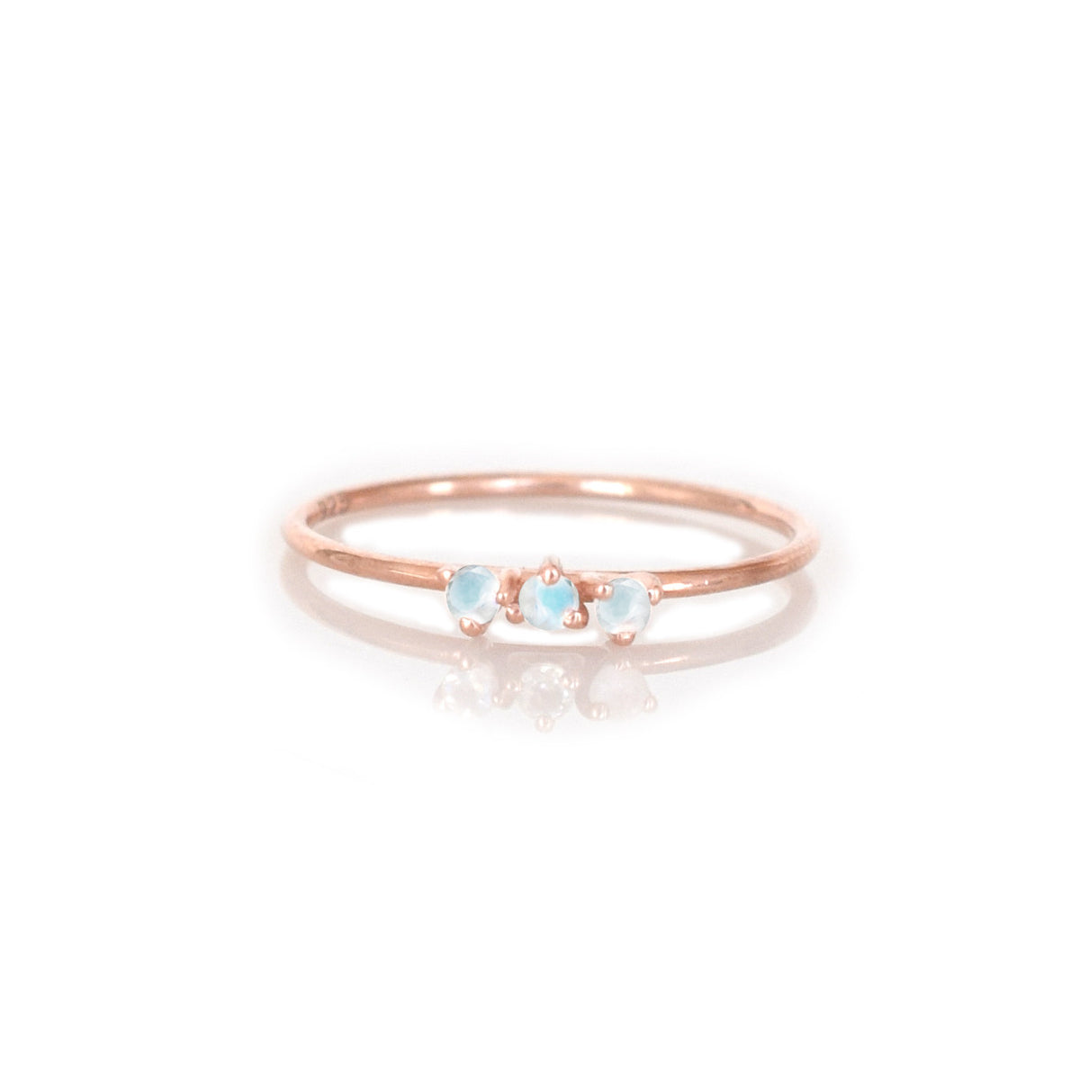 Rainbow Moonstone & Rose Gold Duchess Ring