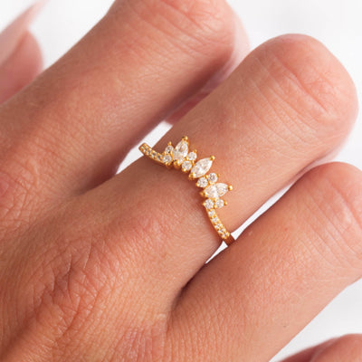 Aspen Diamond Arc Ring
