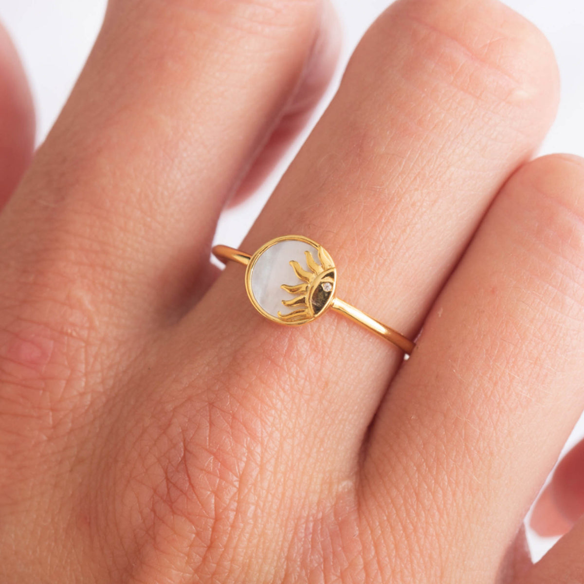 Mother Of Pearl Sunshine Ring