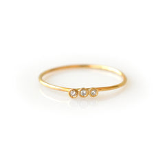 14kt Gold Diamond Trio Ring