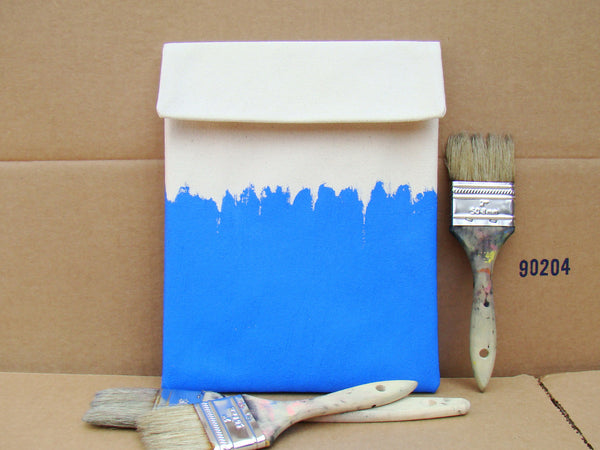 iPad sleeve - Blue on White