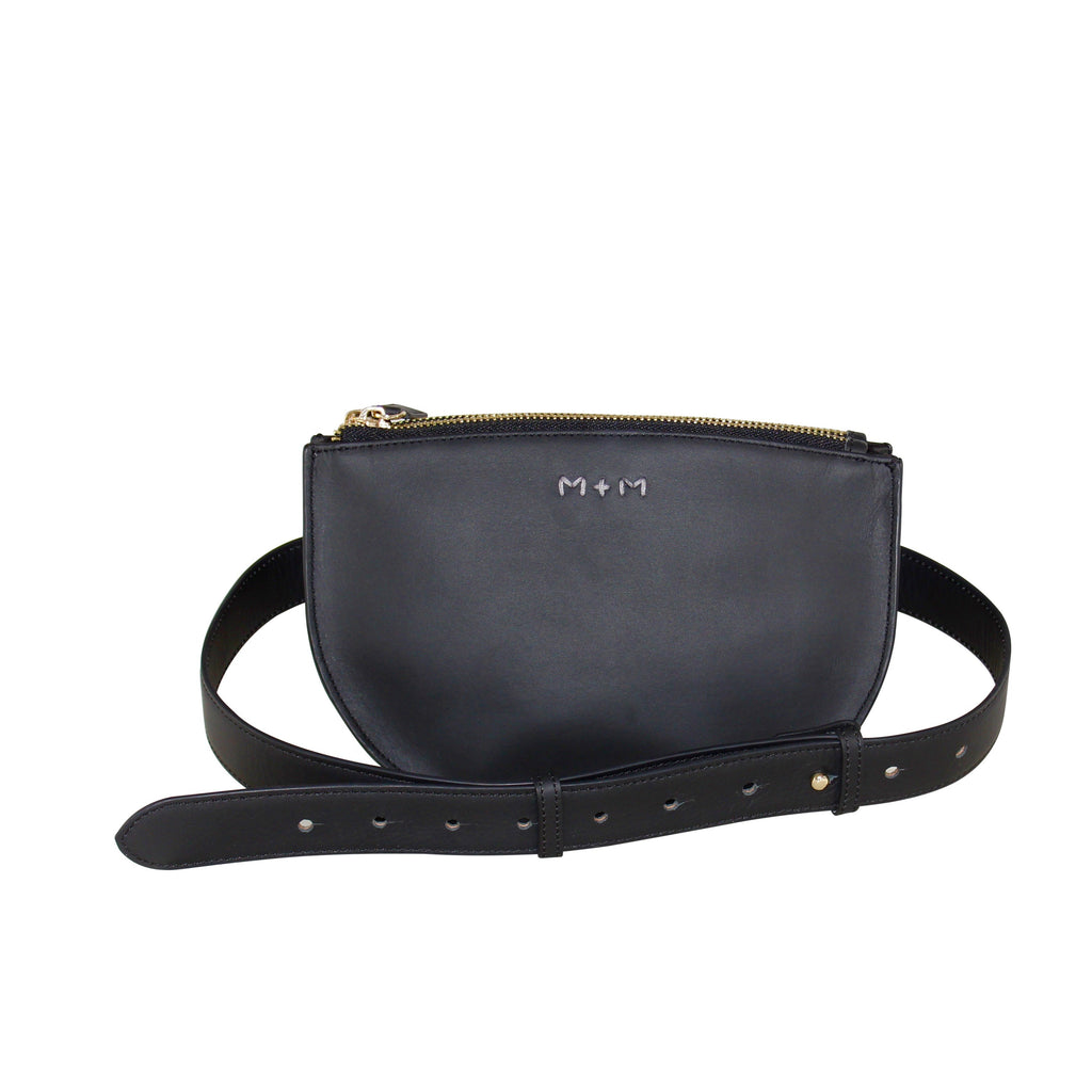 Olivia Look No Hands Black Belt Bag