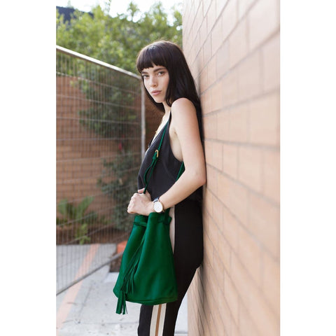 The Leafy Green Shoulder Bag - Mary + Marie