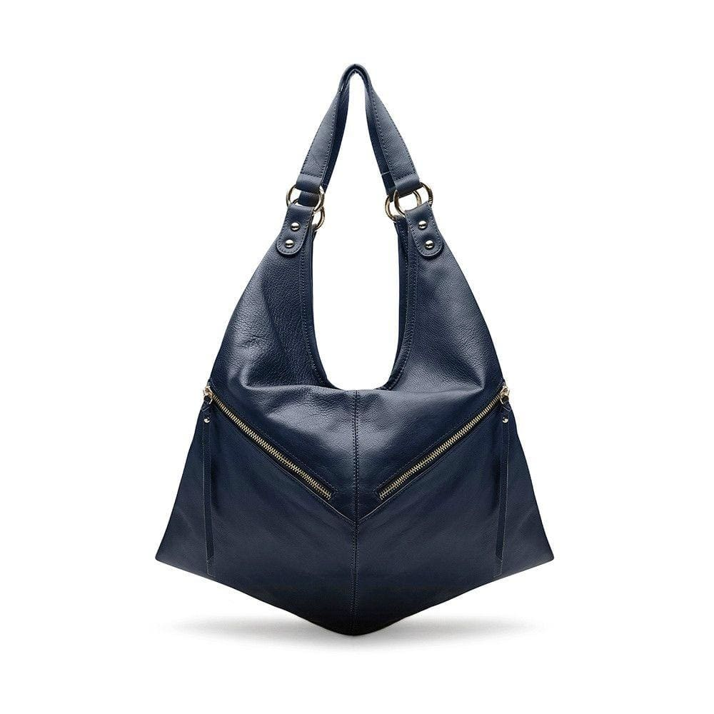 Wonder Woman Navy blue leather Backpack /Slouch Bag by Mary and Marie - maryandmarie
