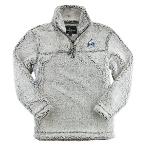 Boxercraft 1/4 Zip Sherpa Pullover, Frosty Grey