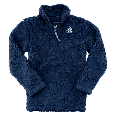 Boxercraft 1/4 Zip Sherpa Pullover, Navy