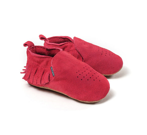 Pretty Brave baby shoes red heart moccasins