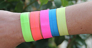 bright hair ties for girls hair accessories