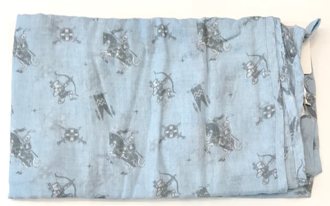 knights in shining armor muslin wrap