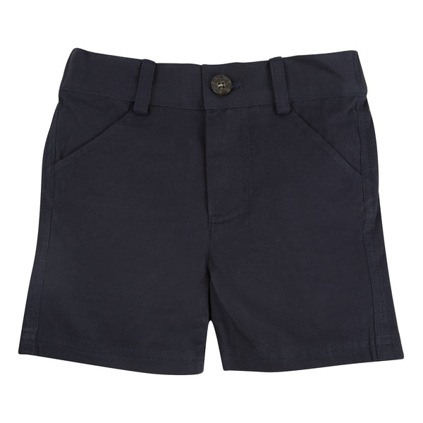 Andy and Evan navy twill shorts