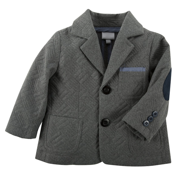 Andy and Evan grey quilted soft blazer