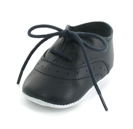 Mon Petit Chausson Dida Navy Blue Oxfords Baby Shoes