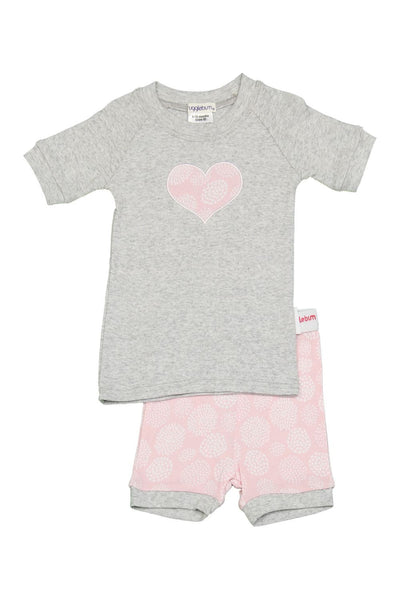 Snugglebum girl's pink heart short john