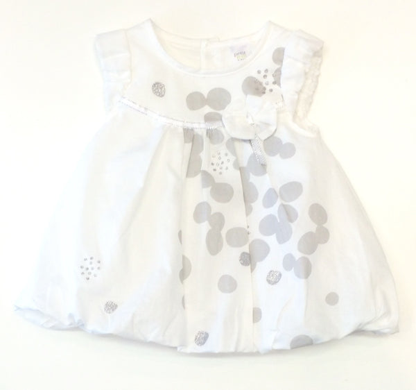 Petit Lem white bubble hem dress ma petit fleur