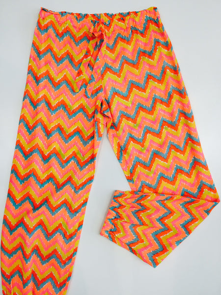 Fox and Finch Girls Zig Zag Bright Pants