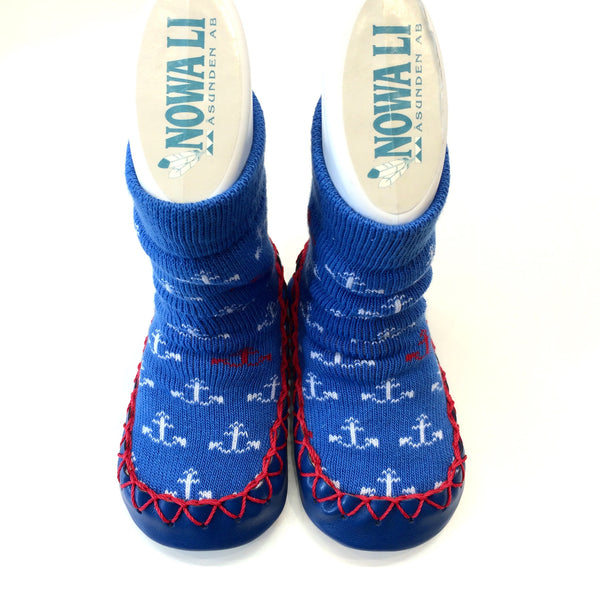Nowali Moccasins blue Anchor