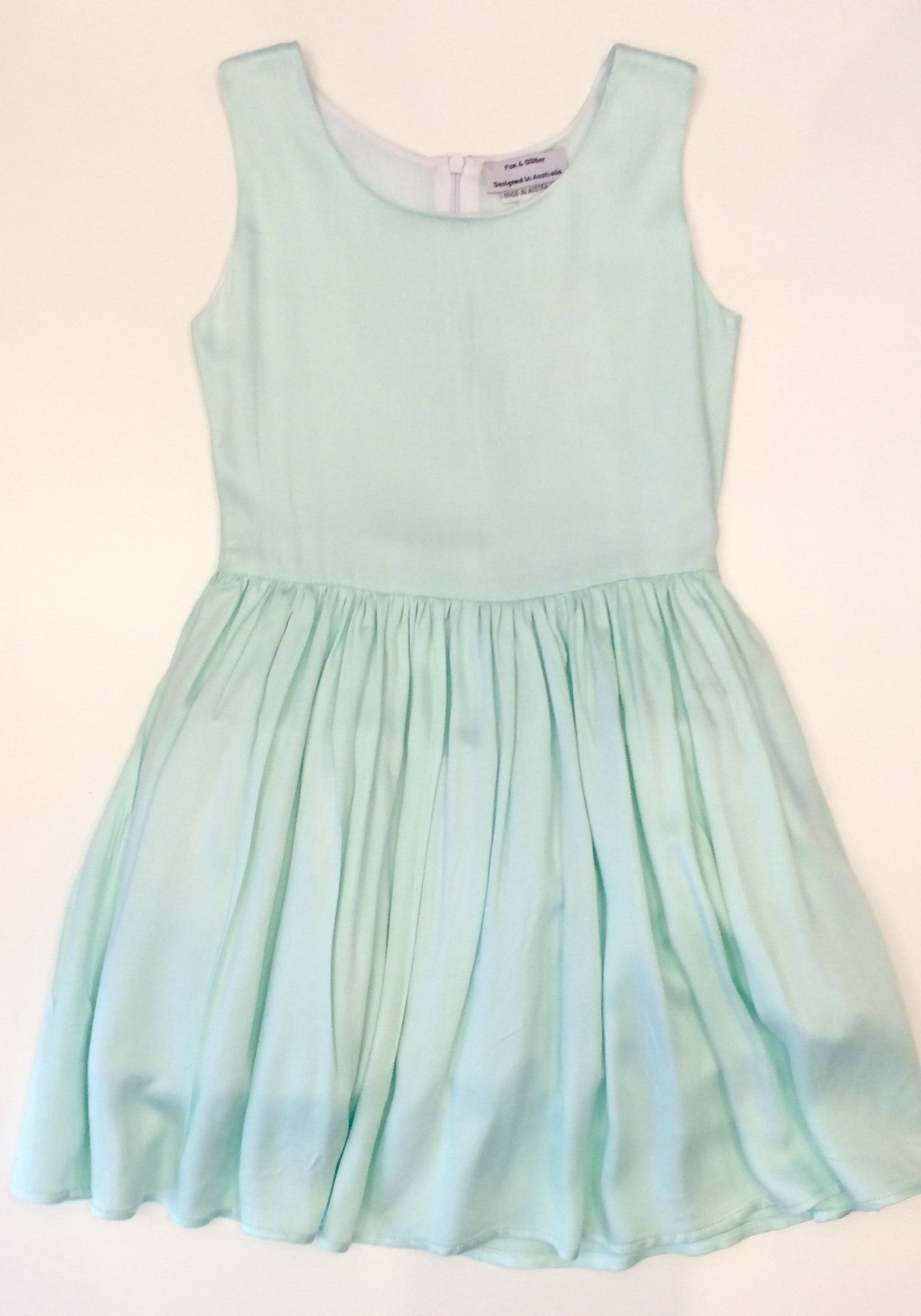 mint fitted skater dress
