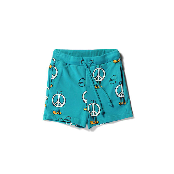 Little Horn Peace short teal