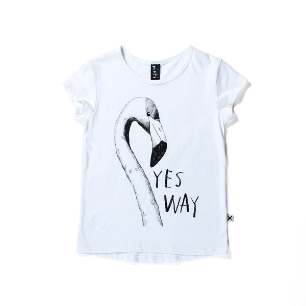 Minti capped tee yes way white