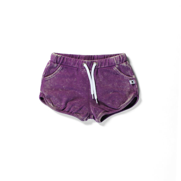 Minti track shorts purple wash