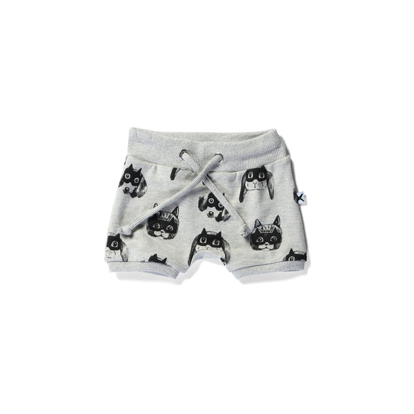 Minti baby sport shorts animal heroes grey marle