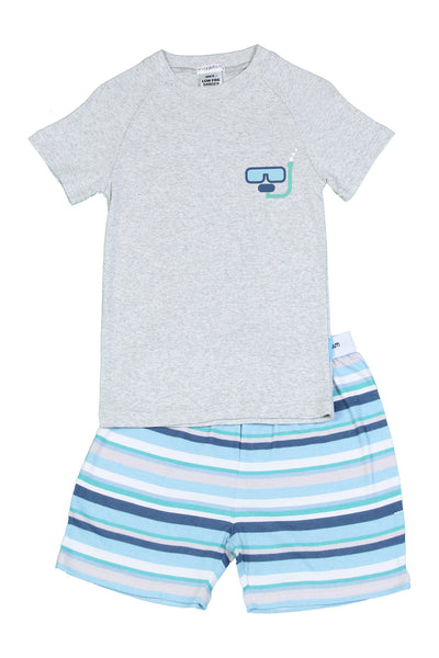 Snugglebum Boy multistripe short pyjamas