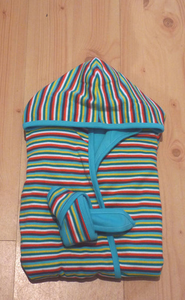 Sebastian stripy dressing gown