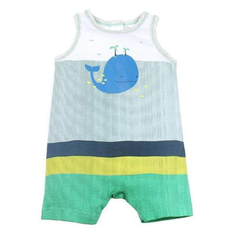 Fox and Finch Baby whale romper
