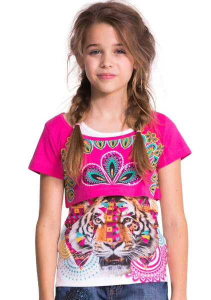 Desigual Avellanada 2-in-1 tank and t-shirt