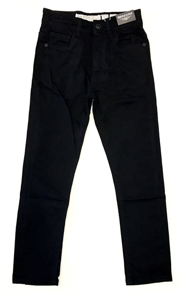 Ripstop skinny stretch jet black jeans