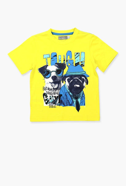 Boboli printed yellow t-shirt