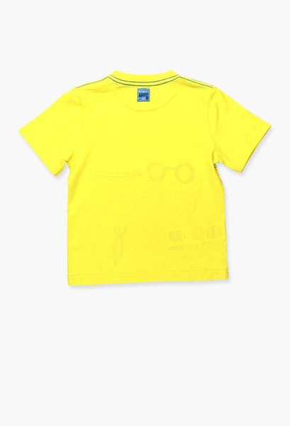 yellow t-shirt with print of dogs