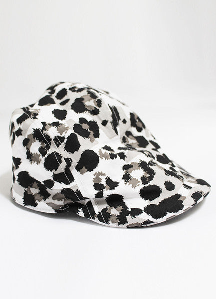 Sunday the Label Gentlemens Cap Grey Leopard
