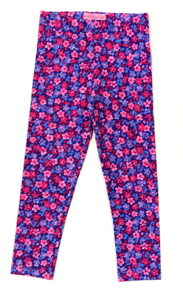 Floral print pink and purple leggings