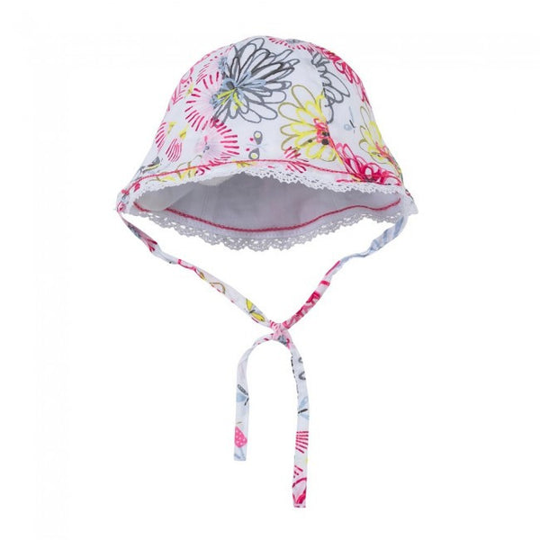 Catimini Spirit Flower Print Reversible Hat