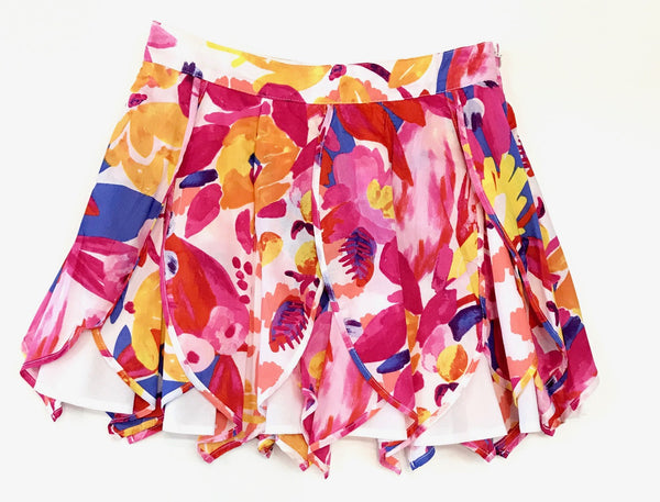 Catimini floral print feather skirt