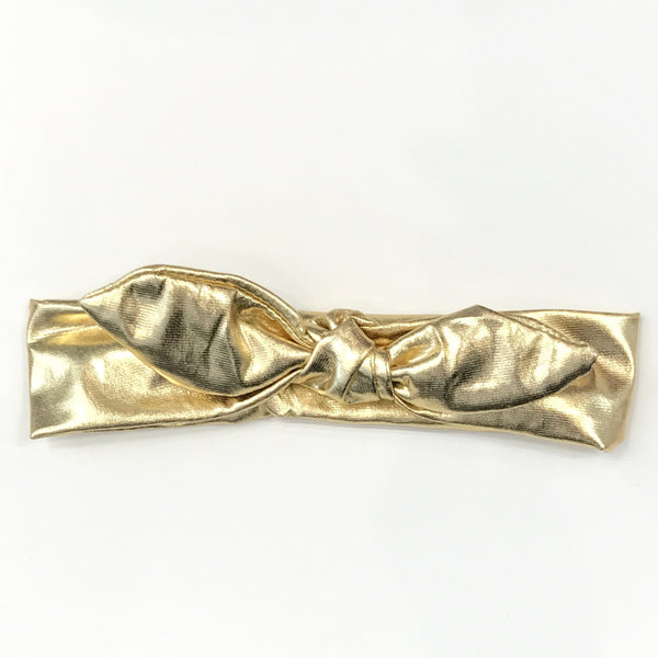 Metallic headband gold