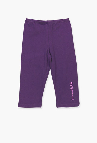 Boboli purple cotton 3/4 leggings