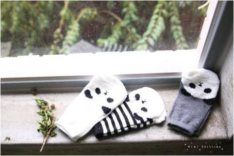 Mini Dressing Panda socks 3 pack