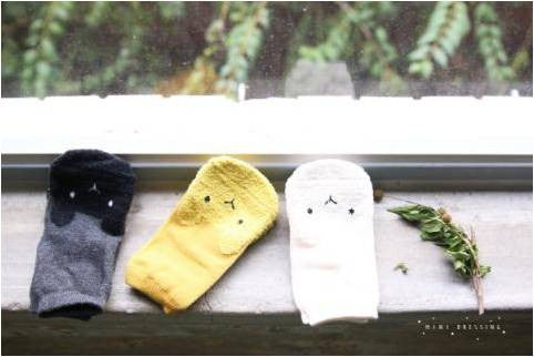 Mini Dressing Puru-Puru socks 3 pack