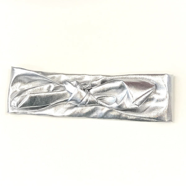 Metallic headband silver
