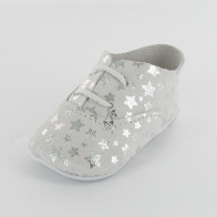 Mon Petit Chausson Dida Star Silver Baby Shoes