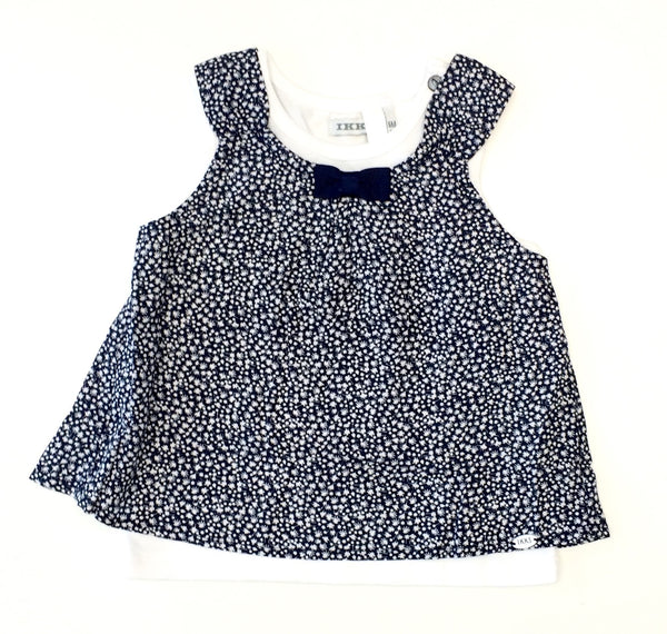 IKKS tank top 2 in 1 navy floral