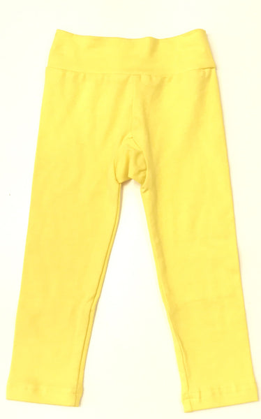 Yellow footless tights slim fit leggings