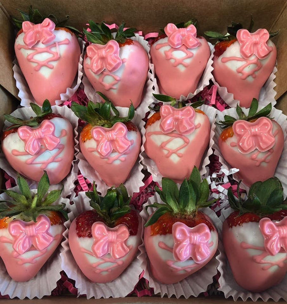 Ballerina Themed Chocolate Covered Strawberries