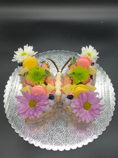 Layered Cream Tart Butterfly